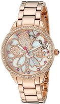 Betsey Johnson Women's BJ00572-01 Analog Display Quartz Rose Gold Watch by