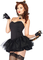 Leg Avenue Black Lovely Leopard 3-Piece Costume Set