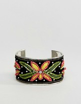 New Look Embroidered Cuff Bracelet