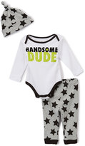 Baby Starters White & Black 'Handsome Dude' Bodysuit Set - Infant