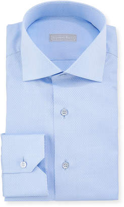 Stefano Ricci Men's Napoli Collar Tonal-Pattern Dress Shirt