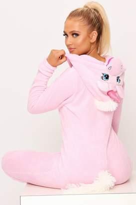 I SAW IT FIRST Baby Pink Novelty Unicorn 3d Onesie