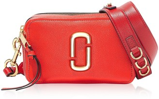 Marc Jacobs The Softshot 21 Small Natural Grain Leather Crossbody Bag
