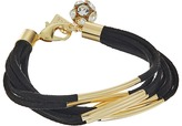 GUESS Multi Strand Faux Suede with Metal Tubes Bracelet