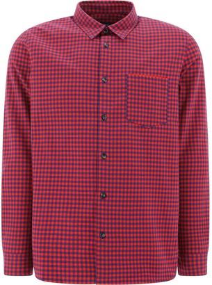 A.P.C. Plaid Button-Down Shirt