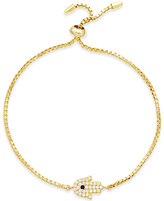 Giani Bernini Cubic Zirconia Adjustable Hamsa Bracelet in Sterling Silver or 18k Gold, Only at Macy's