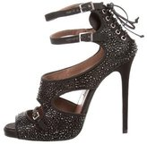 Tabitha Simmons Strass Cage Sandals