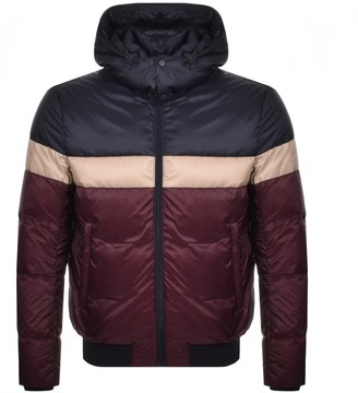 Giorgio Armani Emporio Full Zip Hooded Jacket Burgundy