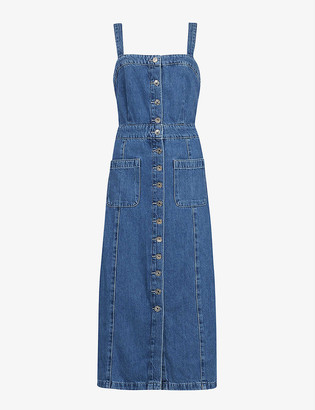 AllSaints Elsie denim midi dress