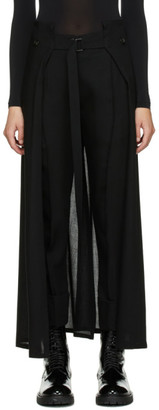 Ann Demeulemeester Black Wool Caped Trousers