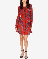 Lucky Brand Macrame Printed A-Line Dress