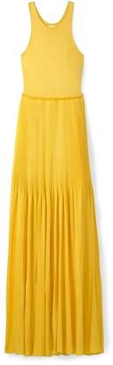 St. John Viscose Plisse Knit Evening Dress