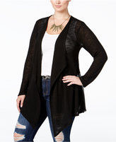 American Rag Trendy Plus Size Lace-Back Cardigan, Created for Macy's