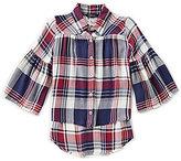 Takara Big Girls 7-16 Plaid Button-Down Shirt