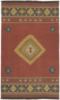 Surya JT1033 Jewel Tone Southwest Inspired Hand Woven 100% Wool Red Rug (3-Feet 6-Inch x 5-Feet 6-Inch )