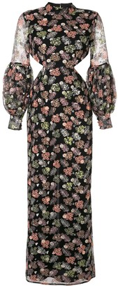 Alice McCall Floral Print Cut-Out Dress