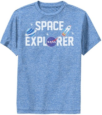 Licensed Character Boys 8-20 NASA Space Explorer Cute Sticker Emoji Performance Graphic Tee