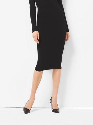 Michael Kors Stretch-Viscose Pencil Skirt
