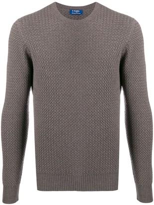Barba waffle knit jumper