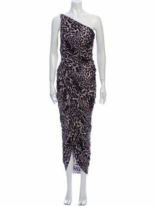 Norma Kamali Animal Print Long Dress w/ Tags Grey
