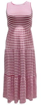 Style&Co. Style & Co Petite Striped Maxi Dress, Created for Macy's