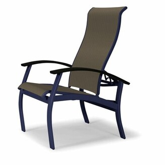 Telescope Casual Belle Isle Sling Multi-Position Patio Dining Chair Telescope Casual Frame Color: Snow, Seat Color: Baja