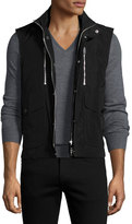 Burberry Moto Front-Zip Vest, Black