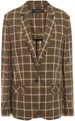 Rag & Bone Checked Cotton Blazer