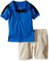 Calvin Klein Baby-Boys Jersey Polo Shirt and Twill Shorts