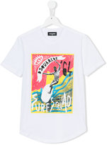 DSQUARED2 teen surf squad T-shirt - kids - Cotton - 14 yrs