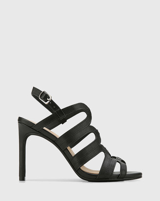 Wittner - Women's Black Sandals - Rosko Leather Caged Strappy Stilettos - Size One Size, 36 at The Iconic