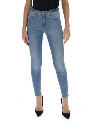 Pinko Belted Straight Fit Jeans