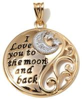 "Michael Anthony Jewelry 10K Gold 2-Tone ""I Love You to the Moon and Back"" Round Pendant"