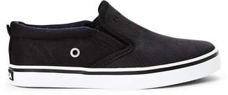 Nautica Kids Boys) Black Akeley Perforated Slip-On Sneakers