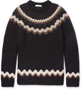 Valentino - Slim-fit Studded Fairisle Wool And Alpaca-blend Sweater