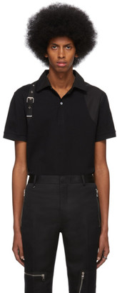 Alexander McQueen Black Harness Polo
