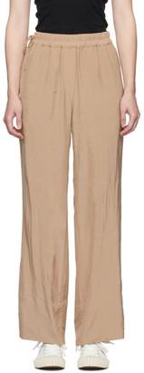 Acne Studios Pink Crinkled Fluid Trousers