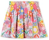 Stella McCartney floral collage print nat skirt