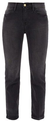 Frame Le High Straight-leg Cropped Jeans - Dark Grey