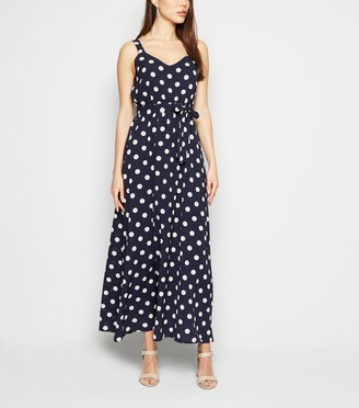 New Look Mela Polka Dot Maxi Dress