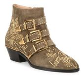 Chloé Susan Studded Suede Buckle Booties