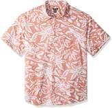 Van Heusen Men's Big-Tall Big and Tall Printed Slub Short Sleeve Shirt