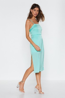 Nasty Gal Womens Another Classic Midi Dress - Green - 10, Green