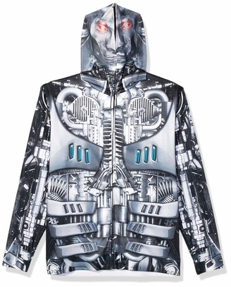 Faux Real Men's Robot Mask Hoodie