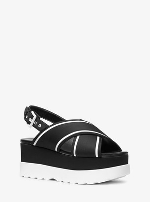 MICHAEL Michael Kors Becker Contrast-Trim Scuba Flatform Sandal