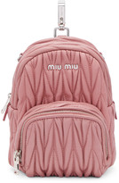 Miu Miu Pink Mini Matelassé Backpack