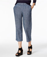 Eileen Fisher Hemp-Cotton Chambray Cropped Pants, Regular & Petite