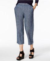 Eileen Fisher Hemp-Organic Cotton Chambray Cropped Pants