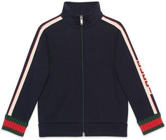 Gucci Children's sweatshirt with jacquard trim