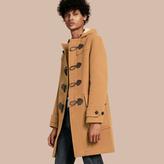 Burberry Wool-blend Duffle Coat , Size: M, Beige